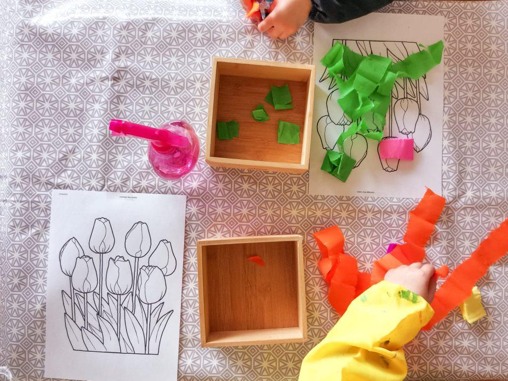 tulipe papier crépon